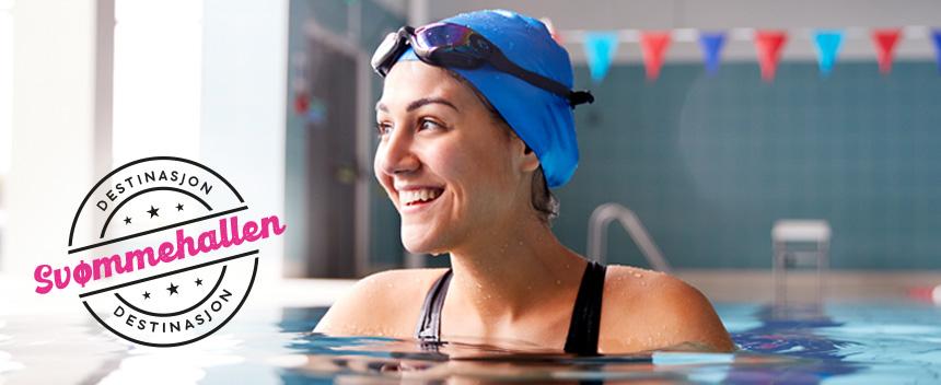 Dame i svømmehallen