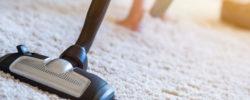 støvsuger på teppe