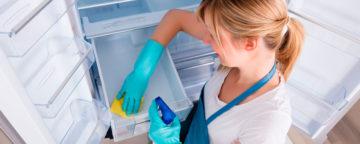 rengjøre kjøleskapet, vask av hvitevarer